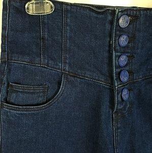 DKNY Hudson High Waist Corset Look Skinny Jean's M